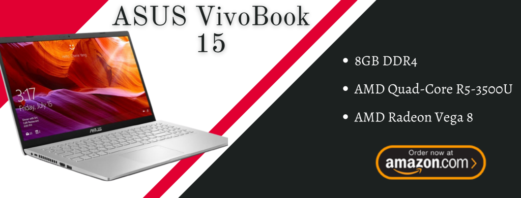 ASUS Vivo Book 15 Thin and Light Laptop info